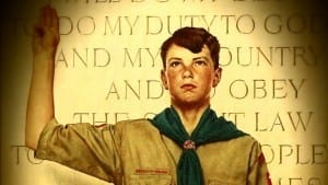 Teenager raised his right hand for oath
