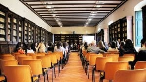 A conference in the library