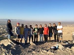 Hiking in Herat, Afghanistan with ILD Team. Jamshid Sultanzada, Rafi Rafat, Wahid Naqshbandi, Somaya Sarwarzade, Khalil Rohani, Ross Paterson