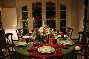 Ready table for dinner